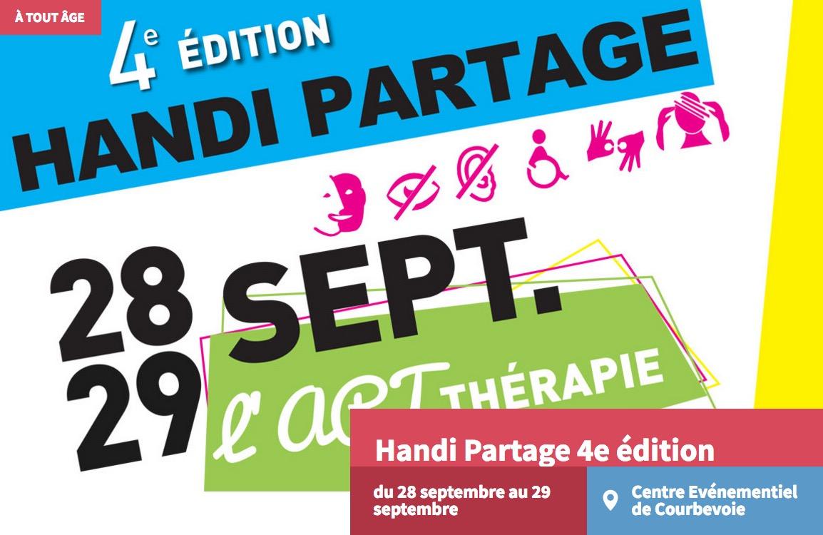 Handipartage 4ème édition à Courbevoie les 28 et 29 septembre